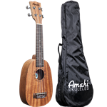 Amahi UK140 Pine Apple Ukulele W/ Vinyl Bag