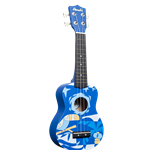 Amahi DDUK2 Blue with Bird Design Ukulele