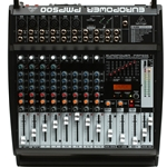 Behringer Europower PMP500 12-ch, 500W Powered Mixer with Built-in FX Processor, 7-band Graphin