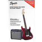 0301814009 Squier Stratocaster Package HSS Candy Apple Red