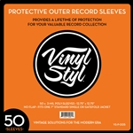 VNST72261 Vinyl Styl 12.75x12.75 Outer Sleeves 50ct