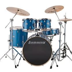 LCEE22023 Ludwig EVO Element Blue Sparkle w/cymbals