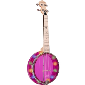 Gold Tone LGLTA Light-up Little Gem Banjo Uke Purple w/bag